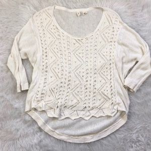 Anthropologie | Moth White/ Cream Knit Top (EUC)